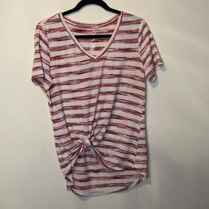 Maurices 24/7 Red Striped Top